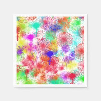 White Fireworks Paper Napkins