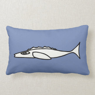 White fish lumbar cushion
