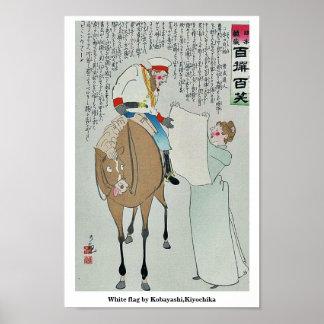 White flag by Kobayashi,Kiyochika Poster