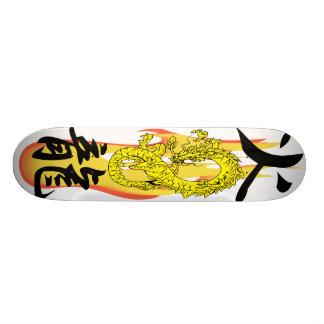 White Flame Fire Dragon remix Skateboards