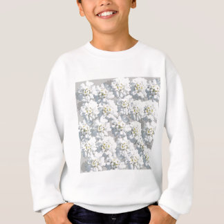 White Flora Pattern Sweatshirt