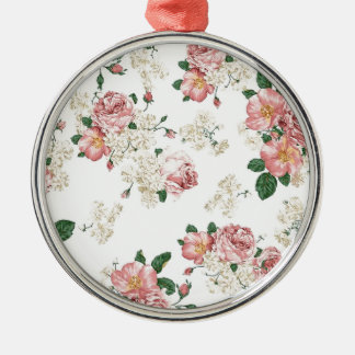 White Floral Christmas Ornament