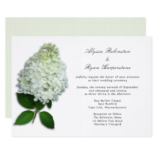 White Floral Hydrangea Wedding Invitations