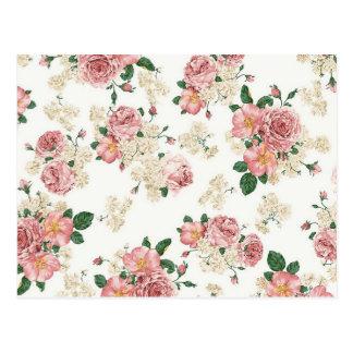 White Floral Postcard