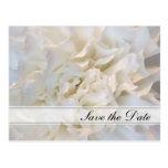 White Floral Quinceañera Save the Date Postcard