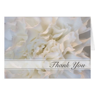 White Floral Thank You for Your Sympathy Card