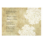 White Floral Vintage Wedding Invitations