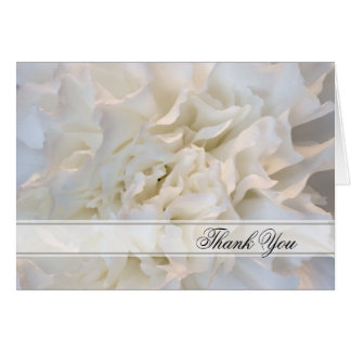 White Floral Wedding Bridesmaid Thank You Card