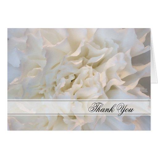 White Floral Wedding Bridesmaid Thank You Card