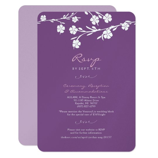 White Floral Wedding RSVP Reception Card