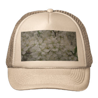 White Flower Bed Hats