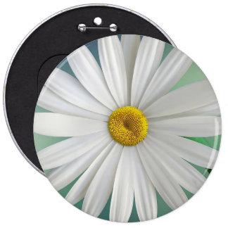 White flower blossom 6 cm round badge