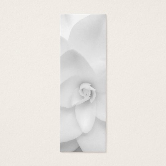White Flower Bookmark Mini Business Card