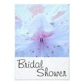 White Flower Bridal Shower Invitation