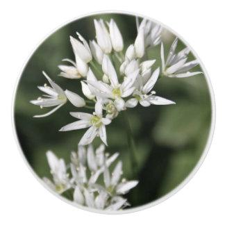 White Flower Ceramic Drawer/Door Knob