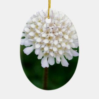 White Flower Ceramic Oval Decoration