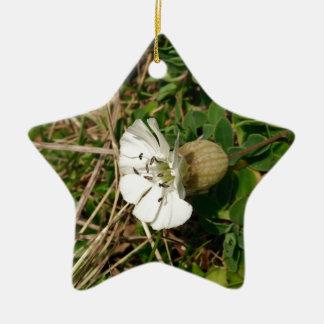 White flower christmas ornament