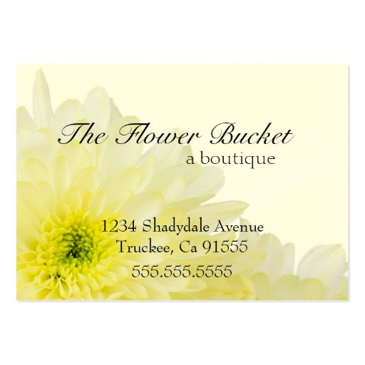 White Flower & Cream Color Business Card