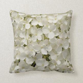 White Flower cushion Throw Pillow