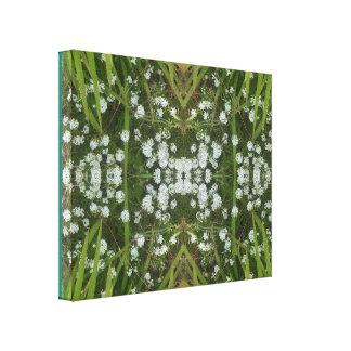 White Flower Fractal 2 Summer 2016 Canvas