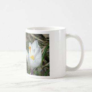 White Flower Half Bloom Mugs