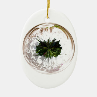 White flower in the globe christmas ornament