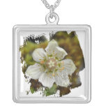 White Flower in the Moss Jewelry