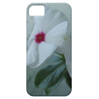 White flower iPhone SE + iPhone 5/5S, Barely There iPhone 5 Cover