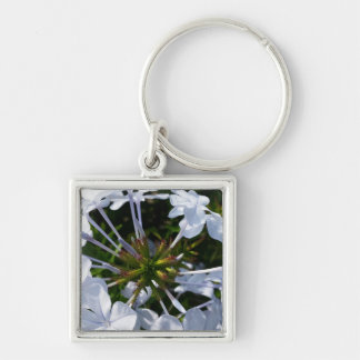 White Flower Key Chains