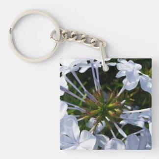 White Flower Acrylic Keychain