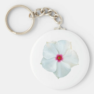 white flower key ring