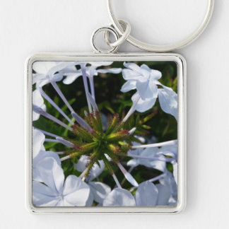 White Flower Key Chain