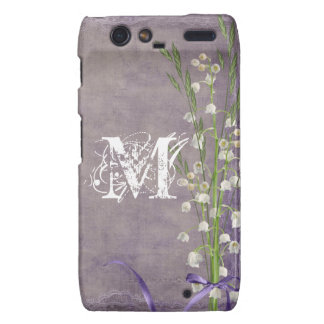 White Flower Lace Monogram Motorola Razr Cas Droid RAZR Case