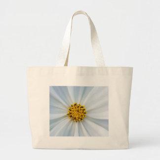 White flower large tote bag
