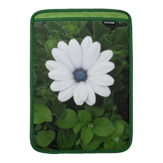 White Flower MacBook sleeve