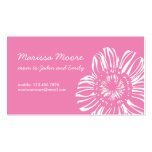 White Flower on Pink Card Pack Of Standard Business Cards