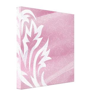 White Flower Pattern Canvas Print
