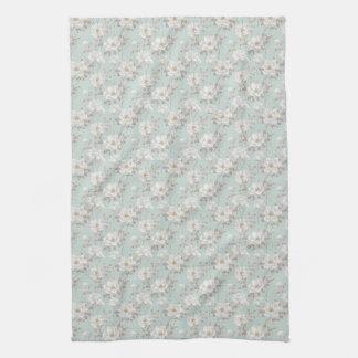 White Flower Pattern Kitchen Towel