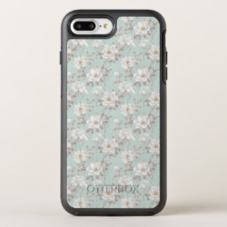 White Flower Pattern OtterBox Symmetry iPhone 8 Plus/7 Plus Case