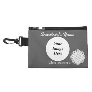 White Flower Ribbon Accessories Bags