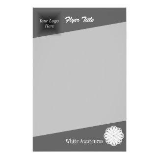 White Flower Ribbon 14 Cm X 21.5 Cm Flyer