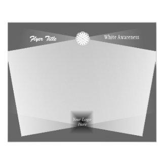 White Flower Ribbon 11.5 Cm X 14 Cm Flyer