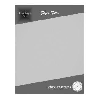 White Flower Ribbon 21.5 Cm X 28 Cm Flyer