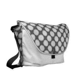 White Flower Ribbon Commuter Bag