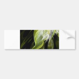 White Flower Swirl Bumper Sticker