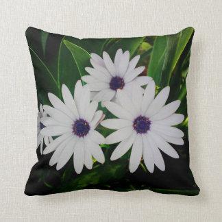 White Flower Throw Pillow Cushion