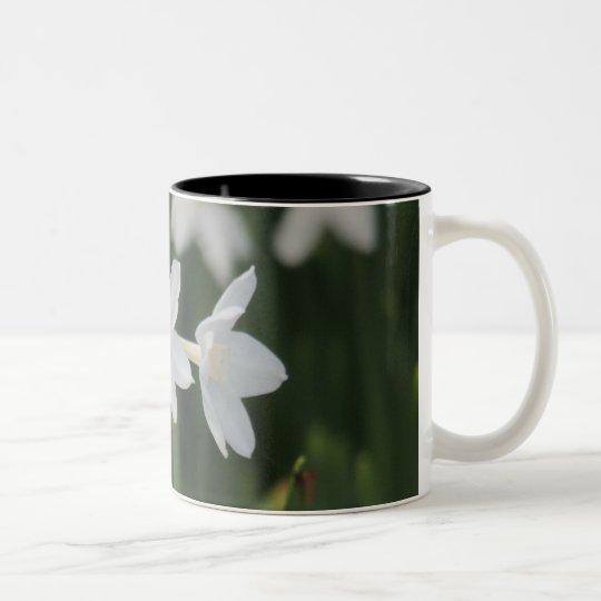 White Flower Two-Tone Coffee Mug