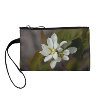 White Flower with Ant Coin Wallet