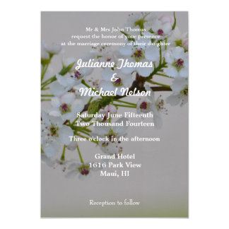White Flowering Tree Personalized Invites