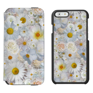 White Flowers Bouquet Floral Wedding Bridal Spring Incipio Watson™ iPhone 6 Wallet Case